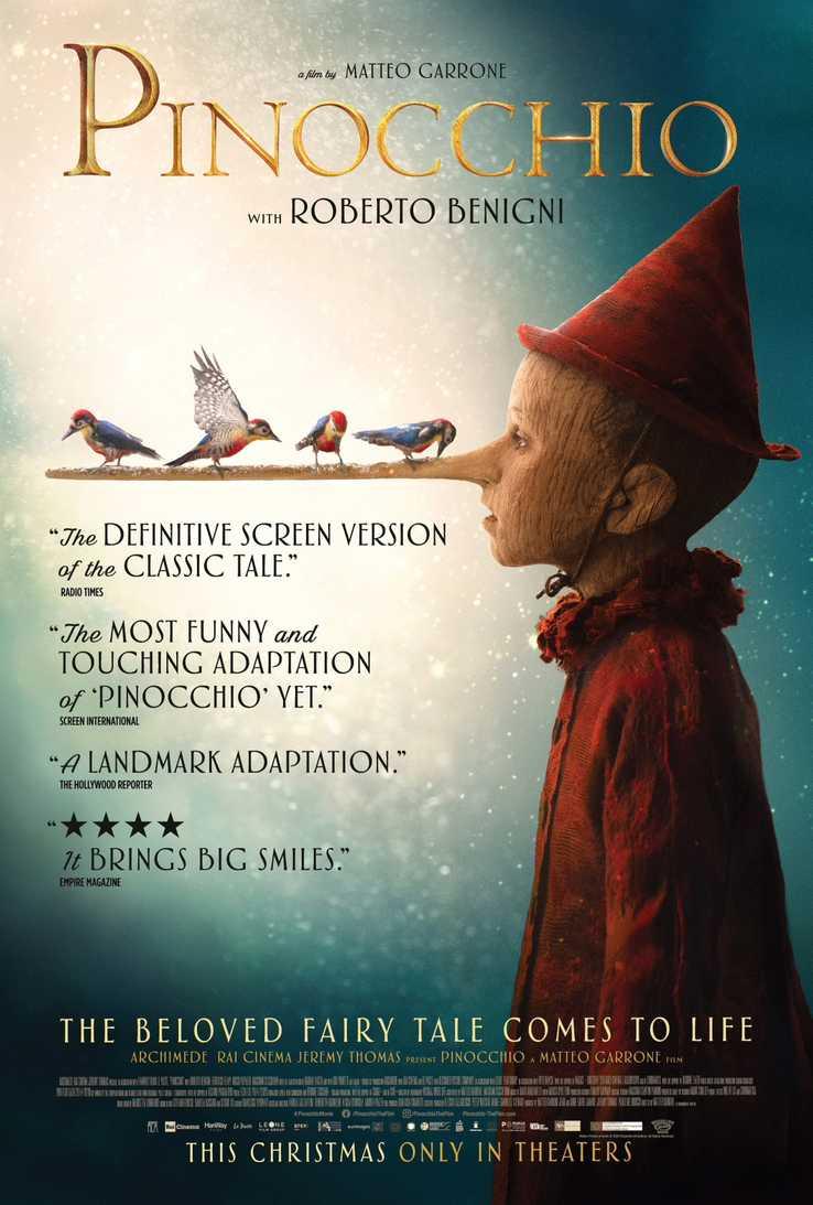La locandina Usa di Pinocchio