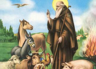 Sant'Antonio abate con gli animali