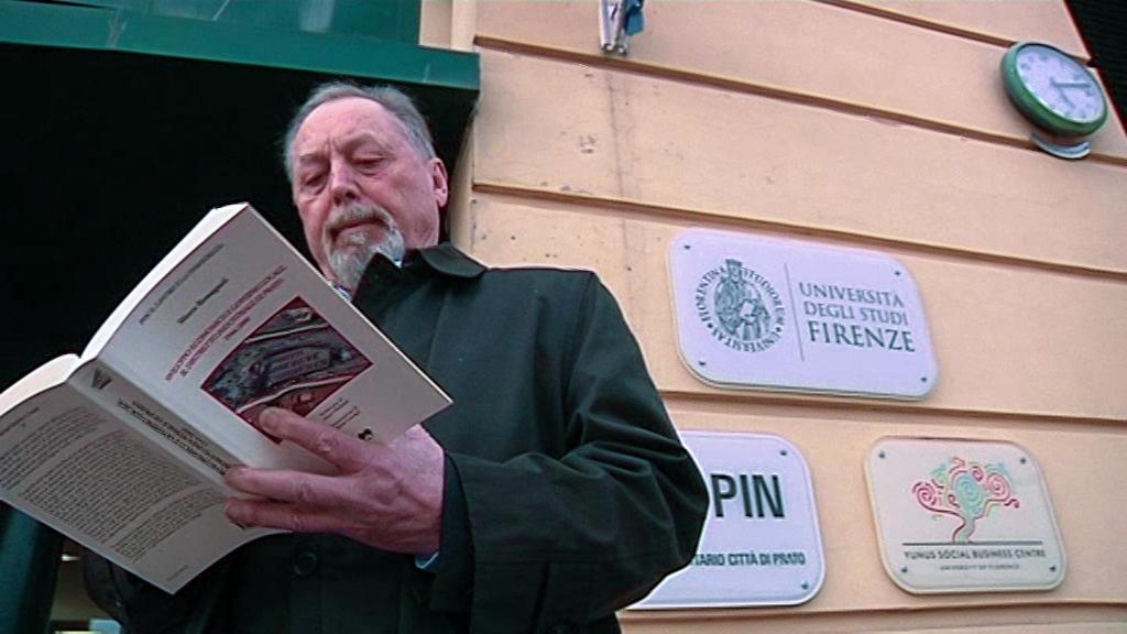 Marco Romagnoli con il libro