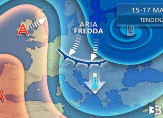 15-17 marzo tendenza meteo italia toscana ed europa