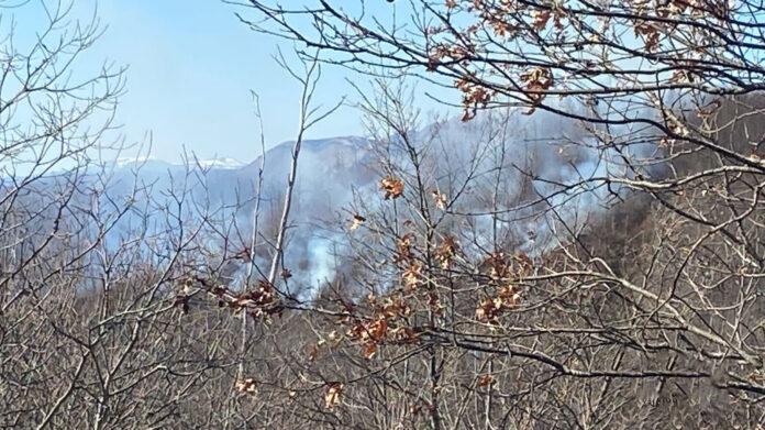 Incendio boschivo Crasciana Bagni di Lucca