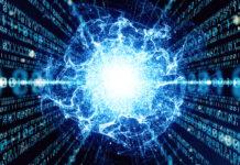 Immagine concettuale di fisica quantistica applicata alle tecnologie del computer