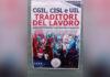 Uno dei manifesti contro i sindacati comparsi a Prato e firmati dal Movimento nazionale