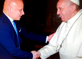 Pasquale Montalto con Papa Francesco