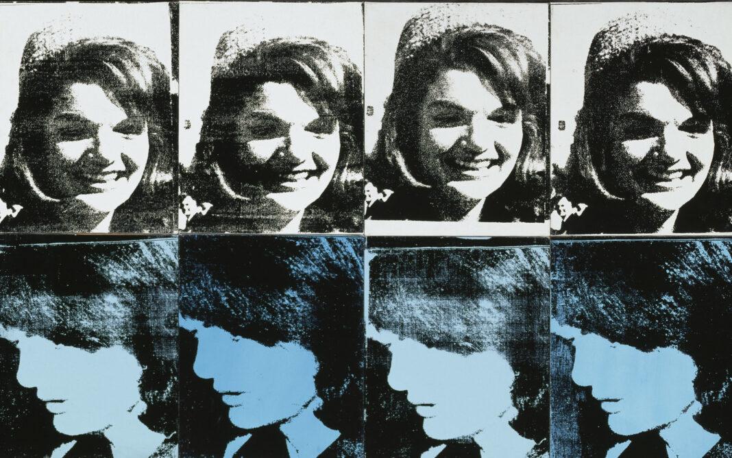 Warhol, Sixteen Jackies, particolare