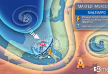 martedì mercoledì tendenza meteo europea