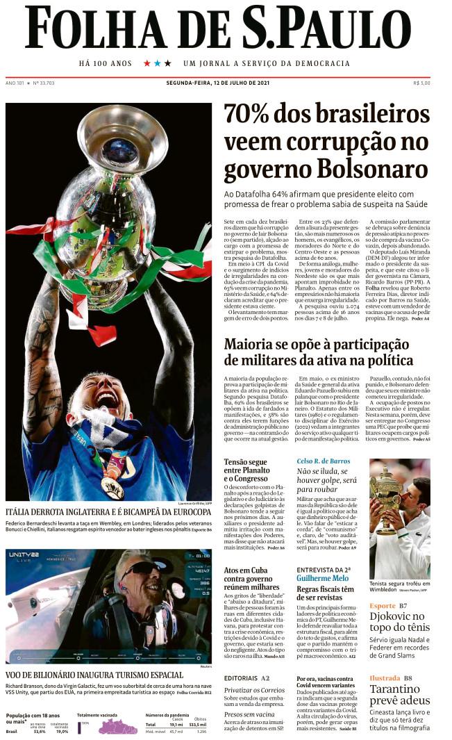 Bernardeschi su Folha de S.Pauolo