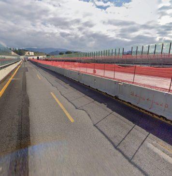 l'autostrada durante i lavori per la terza corsia