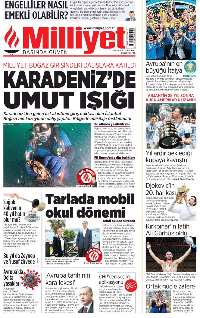 Milliyet prima pagina