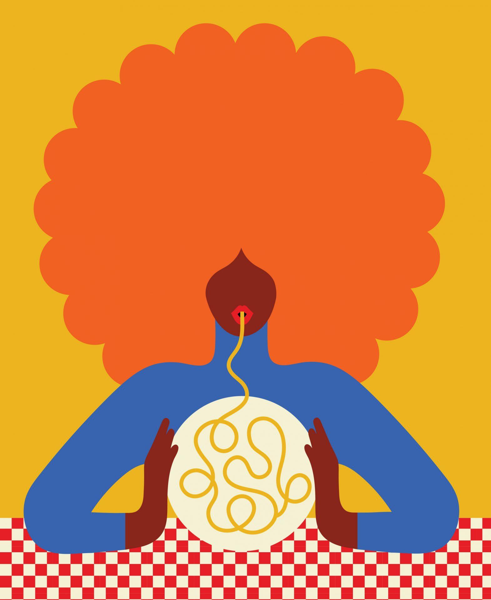 Woman with pasta Barilla (2019)