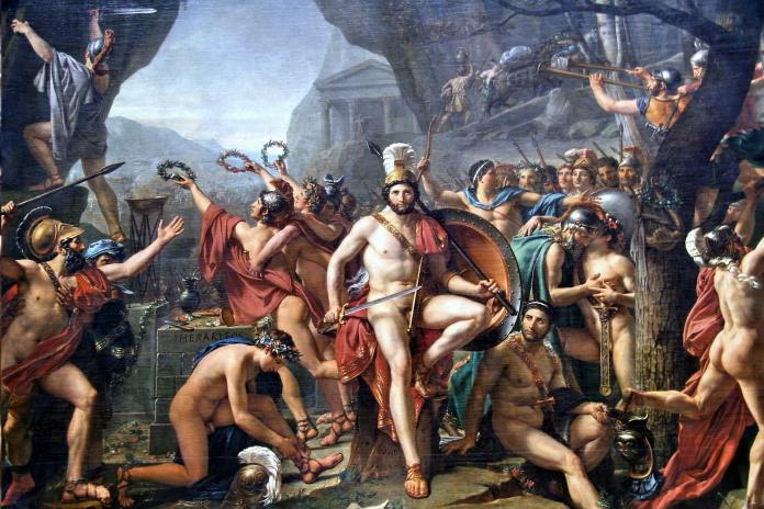 léonidas aux thermopyles (jacques louis david)