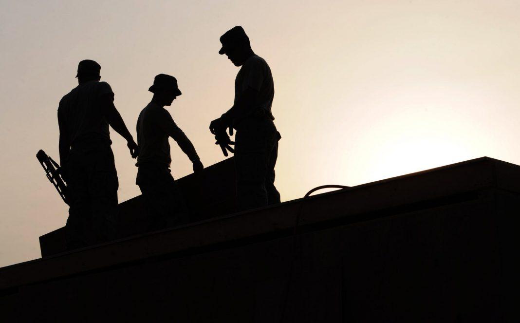 building construction site work